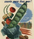 WW II era poster promoting Victory Gardens.