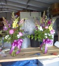 Peonies, foxglove, snapdragons, and dianthus. A May vase arrangement.