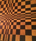 3D End Grain Osage Orange and Black Walnut Cutting Boards on Redwood Granite Top Party Table